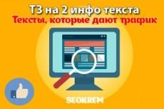 Составлю 5 подробных ТЗ для копирайтеров 10 - kwork.ru
