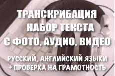 Переводу текст из аудио в текст 33 - kwork.ru