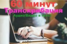 Транскрибация. Расшифровка аудио, видео в текст 10 - kwork.ru