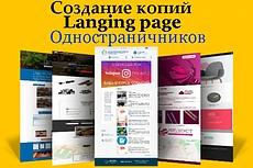 Готовый сайт Landing Page Услуги патронажа 19 - kwork.ru
