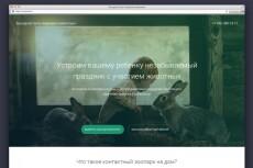 Красочный дизайн экрана вашего сайта, Landing Page 19 - kwork.ru