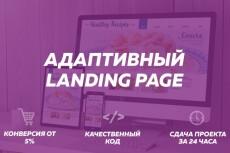 Создание CSS3 Landing Page 8 - kwork.ru