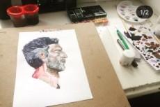 Нарисую ваш портрет акварелью 15 - kwork.ru