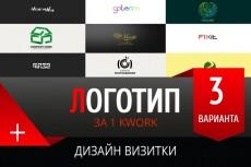 Создаю крутые и креативные логотипы 24 - kwork.ru