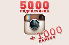 5000 подписчиков в instagram + гарантия+10000 лайков 18 - kwork.ru