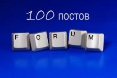 Наполню ваш форум 5 - kwork.ru