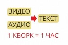 Транскрибация 50 минут аудио или видео в текст 15 - kwork.ru
