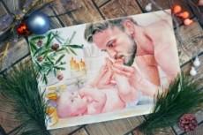 Напишу портрет акварелью или карандашом 21 - kwork.ru