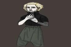 Нарисую ваш портрет или концепт персонажа, разработаю эскиз татуировки 29 - kwork.ru