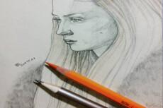Портрет карандашом 12 - kwork.ru