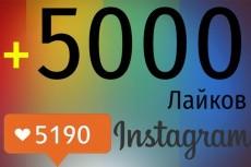 30000 лайков в instagram 9 - kwork.ru