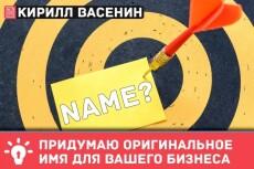 Нейминг и брендинг 35 - kwork.ru