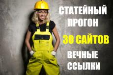 Статейный прогон по 15 жирным трастовым сайтам 6 - kwork.ru