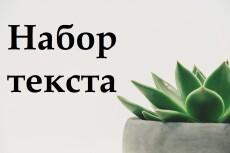 Набор текста из любого источника, перевод из аудио и видео в текст 13 - kwork.ru