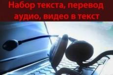 Перевод аудио/видео в текст 20 - kwork.ru