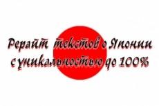 Напишу статью о Японии - кулинария, культура 7 - kwork.ru