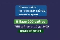 Прогон по гостевым сайтам(сайты с тиц от 20 до 1600),в базе 100 сайтов 5 - kwork.ru