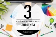 Стильный логотип 3 варианта + исходники 28 - kwork.ru