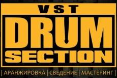 Создам midi дорожку барабанов 4 - kwork.ru