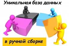 Сбор базы данных вручную из открытых источников 7 - kwork.ru