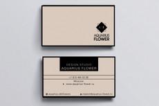 Стильный дизайн визитки 2 Варианта 61 - kwork.ru