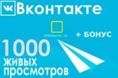 Продвину 2000 просмотров к вашей записи Вконтакте 15 - kwork.ru