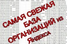 Соберу базу организаций любого крупного города России 3 - kwork.ru