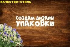 Создам дизайн простой коробки, упаковки 77 - kwork.ru