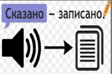 Перевод  в текст аудио- или видеофайла. Транскрибация 20 - kwork.ru