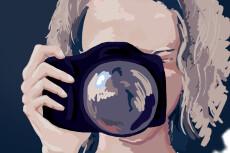 Низкополигональный портрет 26 - kwork.ru
