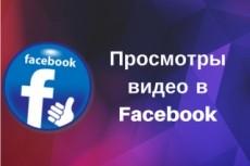 30 000 просмотров на видео в Facebook 6 - kwork.ru