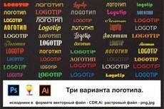 Разработка логотипа для вашего сайта или блога 22 - kwork.ru
