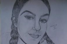 Простой карандаш и краски, портрет по Вашему фото 19 - kwork.ru