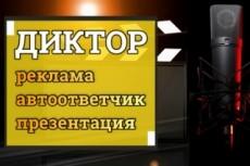 Дикторская начитка до 20 минут 20 - kwork.ru