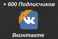 555 подписчиков на паблик, группу Вконтакте 11 - kwork.ru