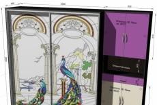 3D модель кухонного гарнитура 8 - kwork.ru