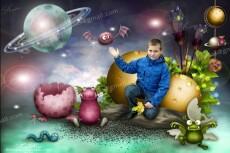 Поздравительный коллаж из 1 фото 15 - kwork.ru