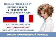 переведу текст с французского на русский 6 - kwork.ru