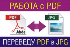 Переведу скан изображений из PDF в jpg 4 - kwork.ru