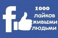 1000+ репостов живыми людьми в соц.сети Facebook 4 - kwork.ru
