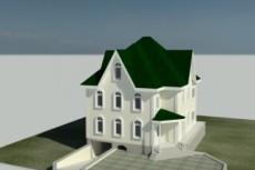 Сделаю 3D проект каркасного дома 26 - kwork.ru