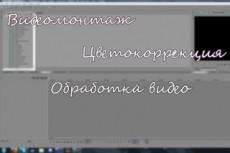 Монтаж и обработка видео (цветокоррекция, слоумо и т.д.) 6 - kwork.ru