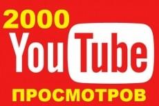 +2000 Просмотров в YouTube 22 - kwork.ru