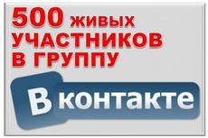 500 живых участников в группу ВК, ВКонтакте, без ботов и программ 15 - kwork.ru