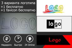 Создам 1 логотип + дизайн визитки 20 - kwork.ru