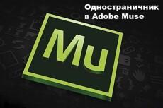 Верстка одностраничного сайта-визитки 10 - kwork.ru