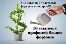 Ссылки с профилей форумов 10000 вечных ссылок из Профилей 3 - kwork.ru