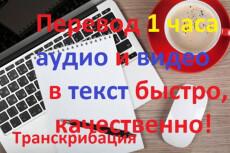 Транскрибация с аудио и видео файлов 20 - kwork.ru