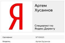 Сертификат Яндекс Директ. Помощь в получении, сдаче экзамена 20 - kwork.ru