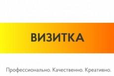 Стильный дизайн визитки 2 Варианта 23 - kwork.ru